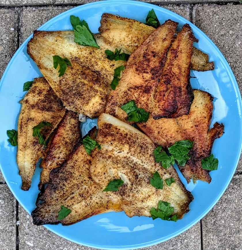 Easy fried flounder that is SCD, GAPS, Paleo, Low FODMAP, and Low Oxalate